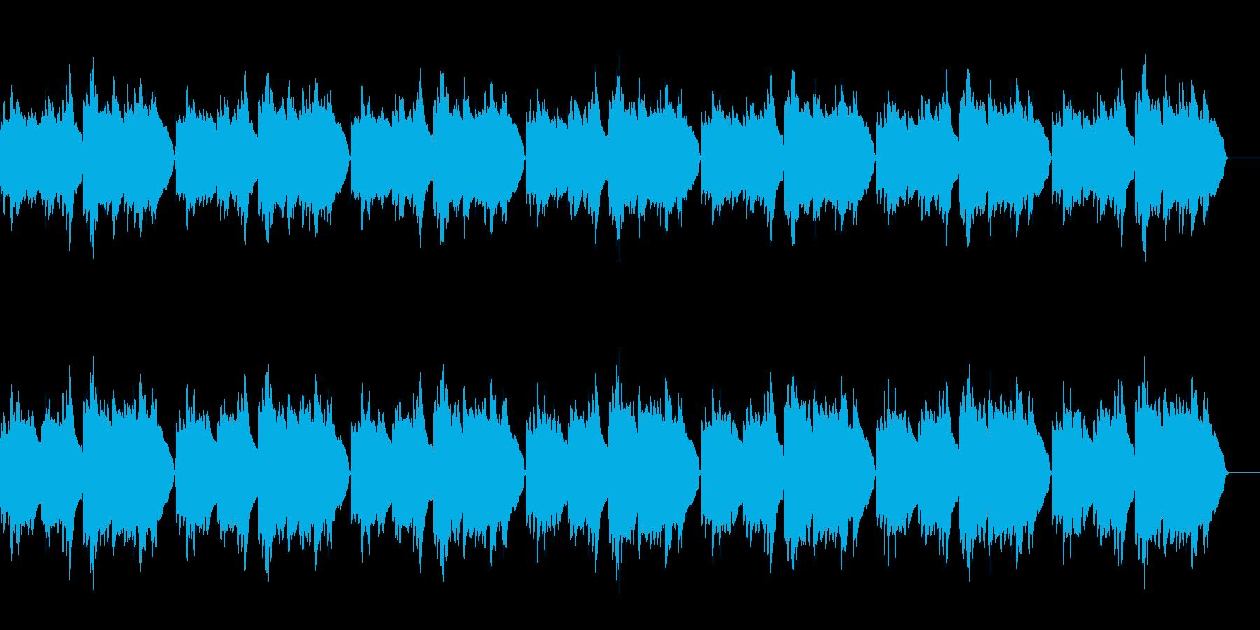 「ふるさと」のハーモニカソロの再生済みの波形