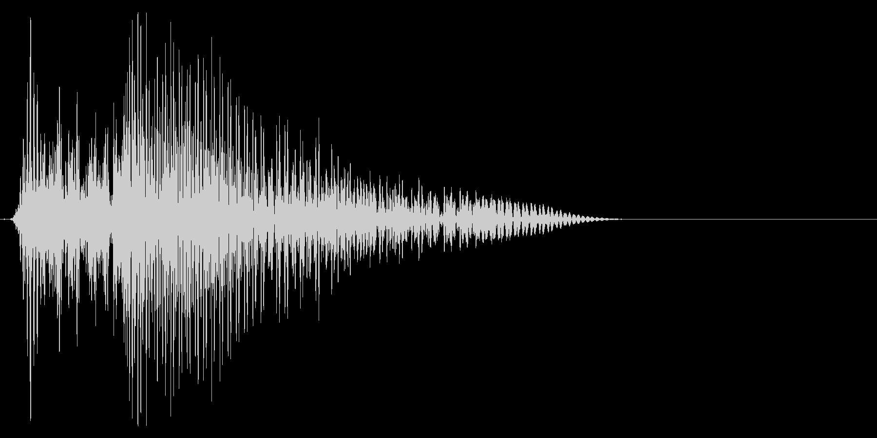 ゲーム掛け声ゾンビ1アウー2の未再生の波形