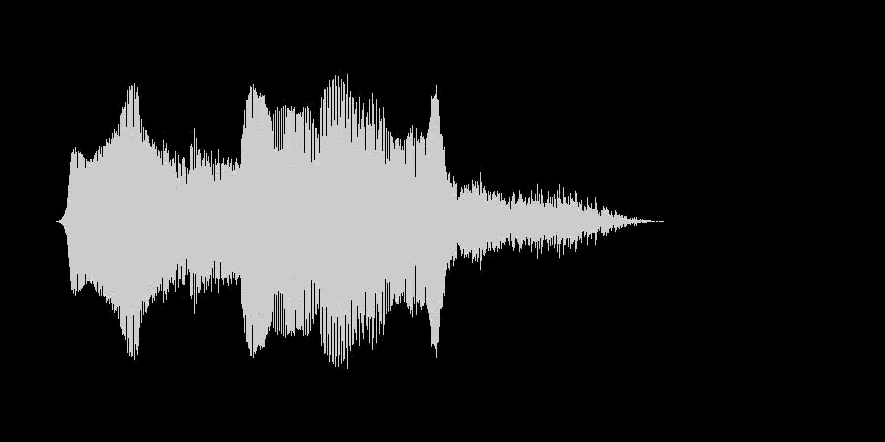 (あくび)の未再生の波形