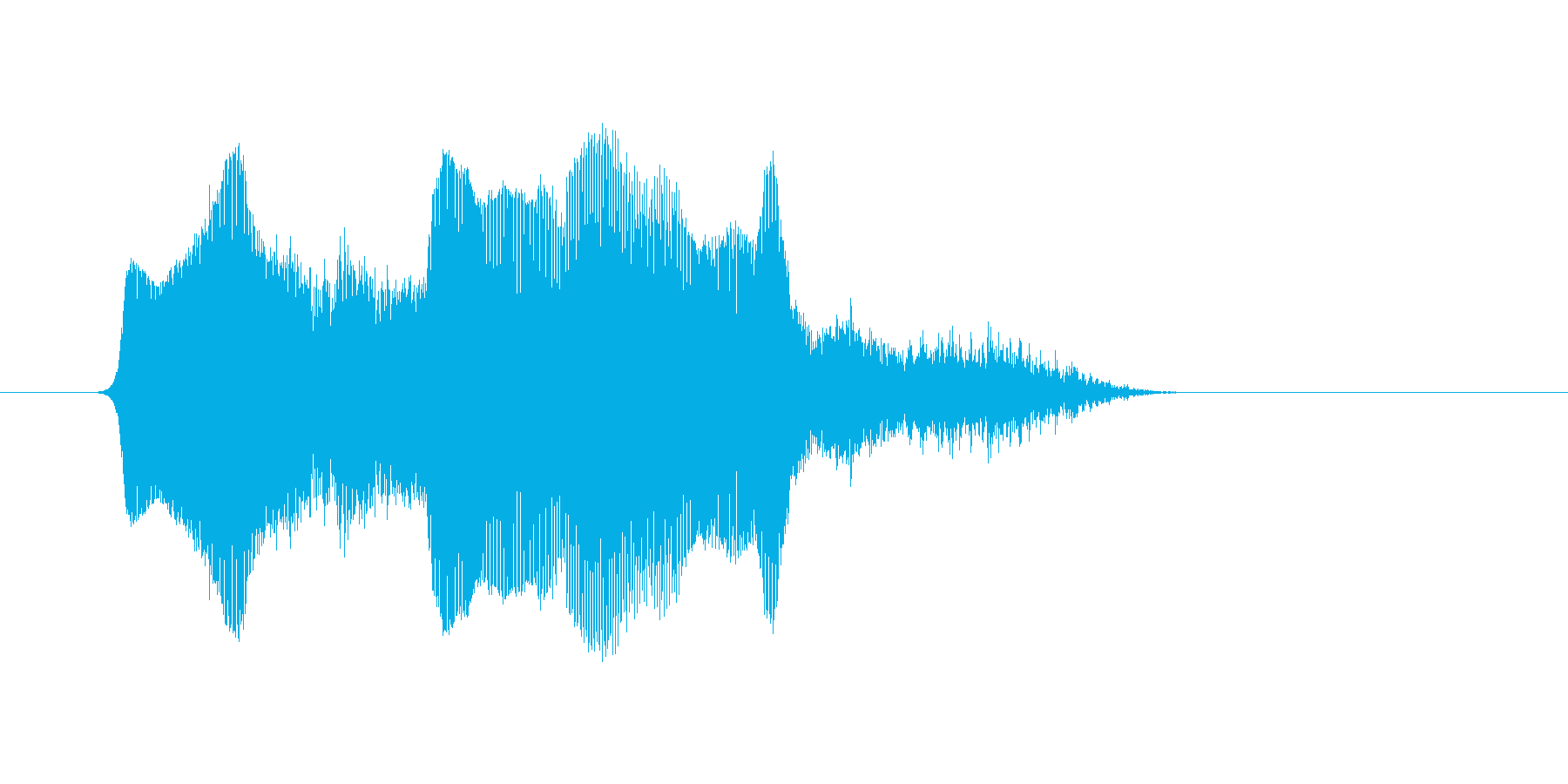 (あくび)の再生済みの波形