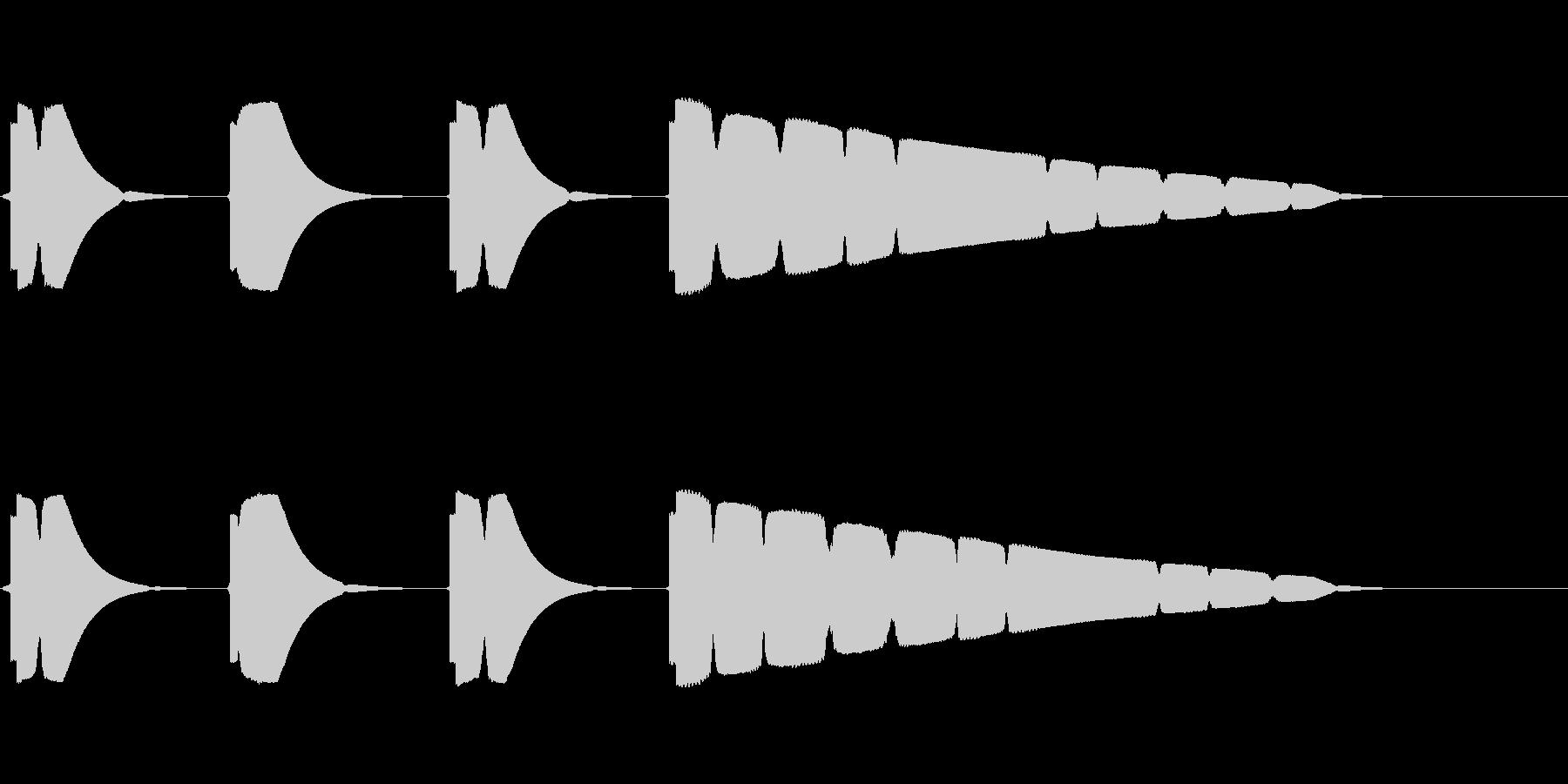 プップップッポーン(カウント音、早め)の未再生の波形