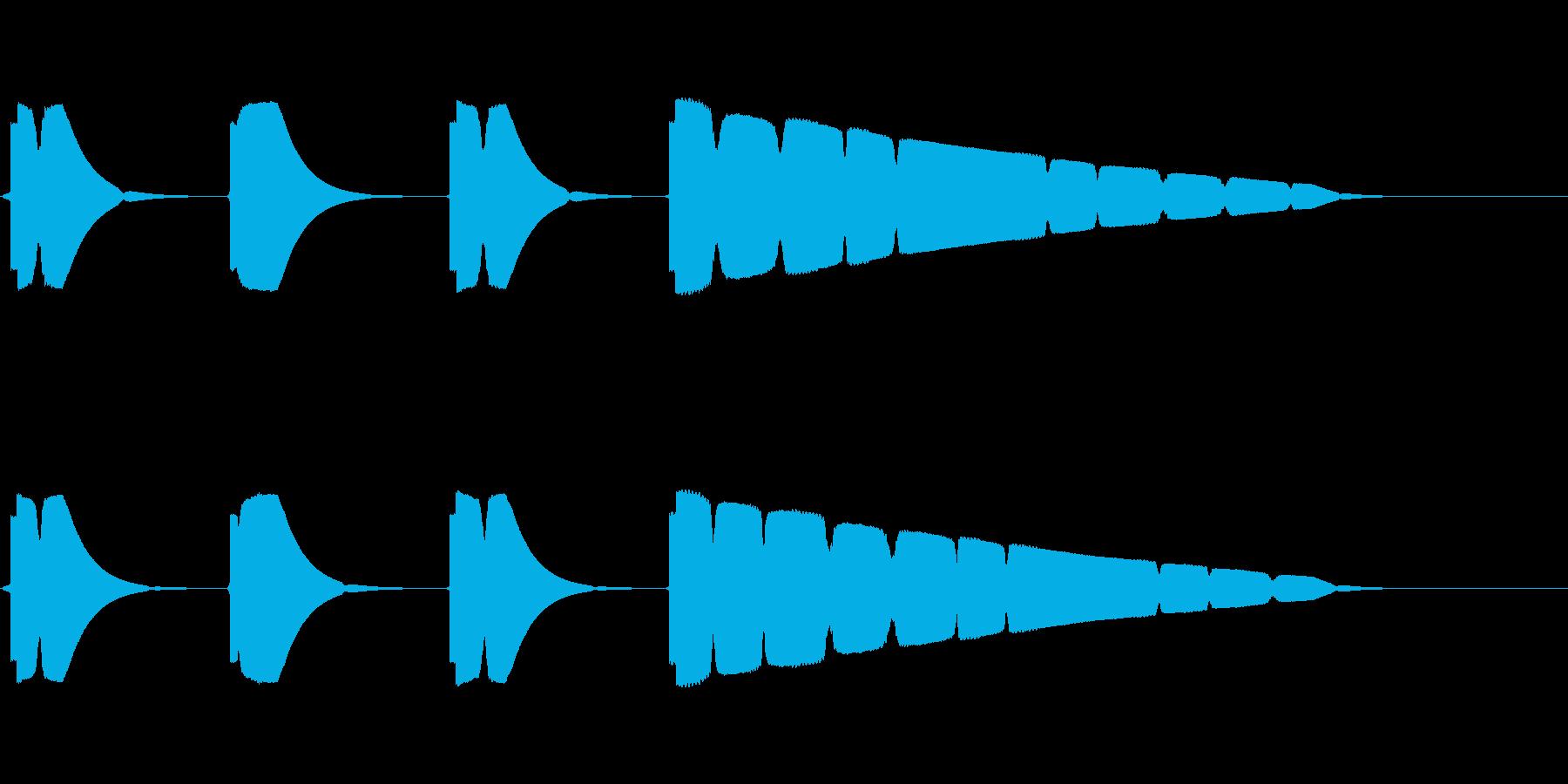 プップップッポーン(カウント音、早め)の再生済みの波形