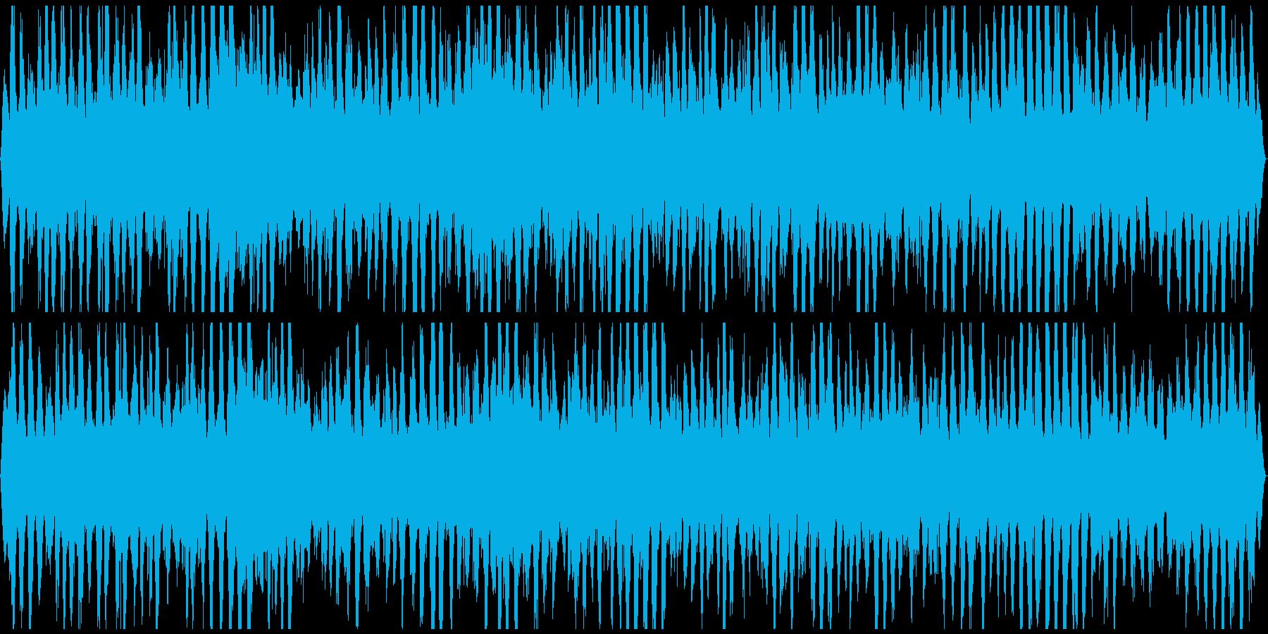 ザッパーン うねる荒波 迫力のステレオの再生済みの波形