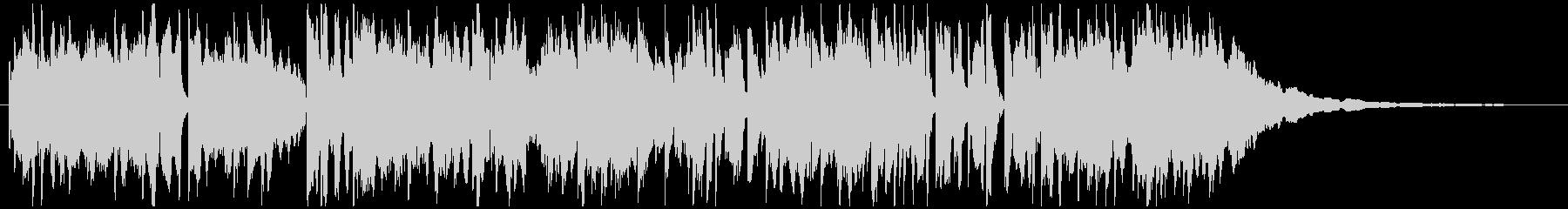 番組インターバル、すき間、ローズピアノの未再生の波形
