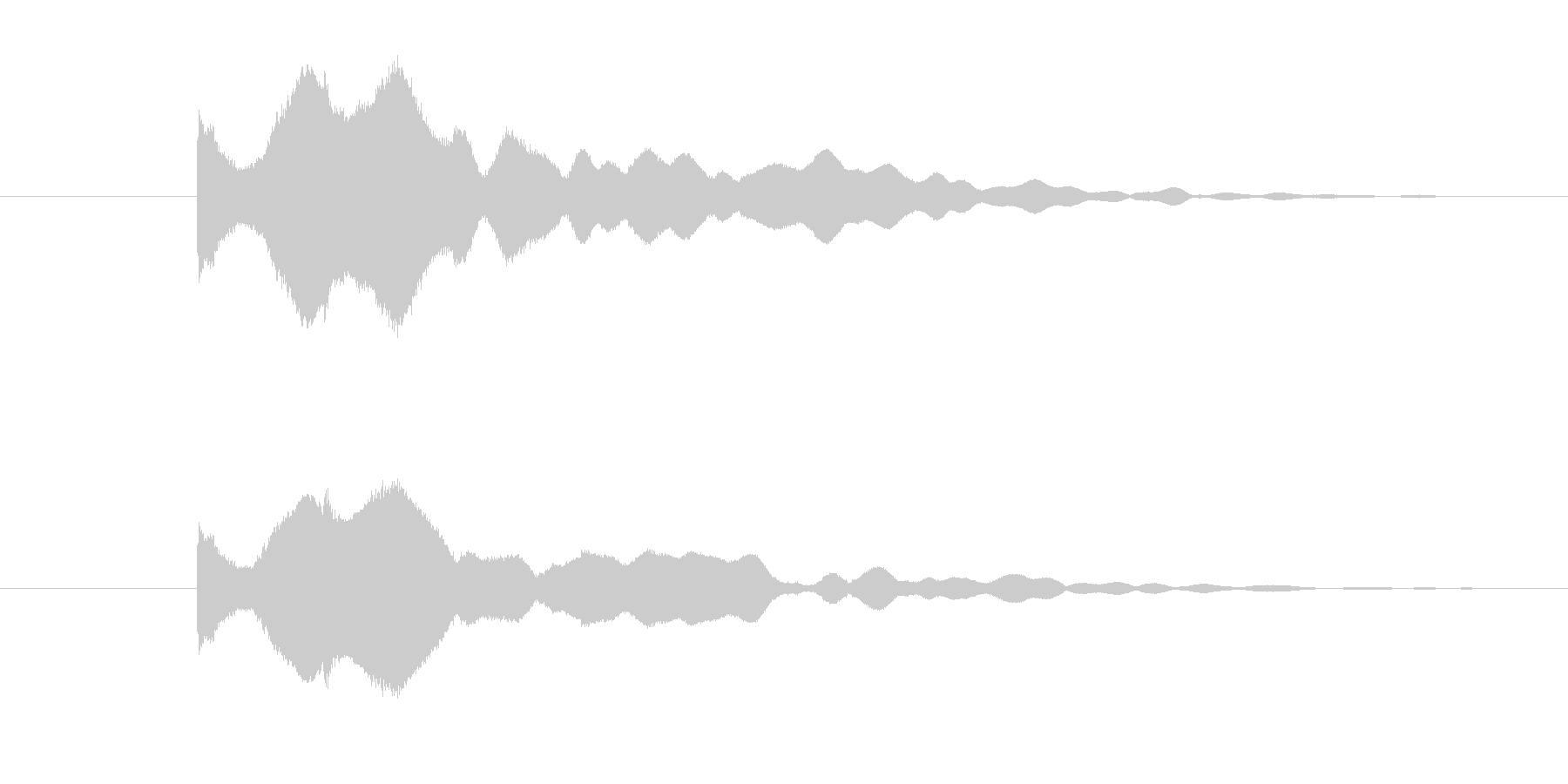 煌びやかにキーンという音色の未再生の波形