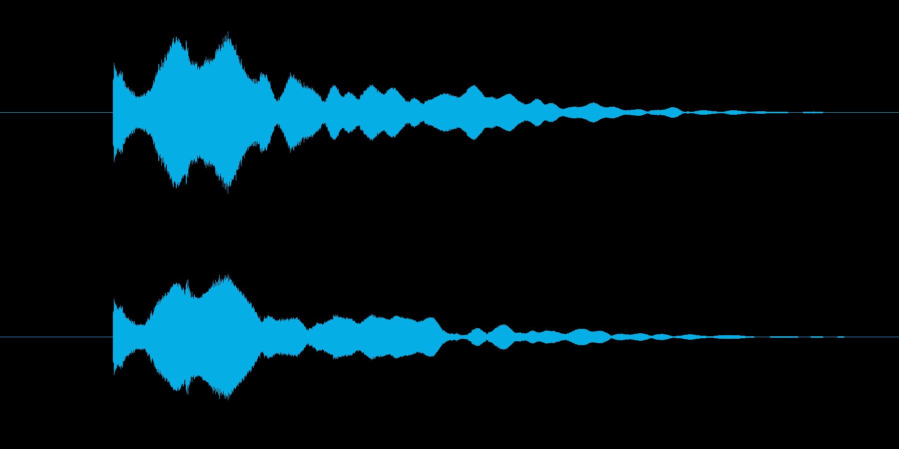 煌びやかにキーンという音色の再生済みの波形