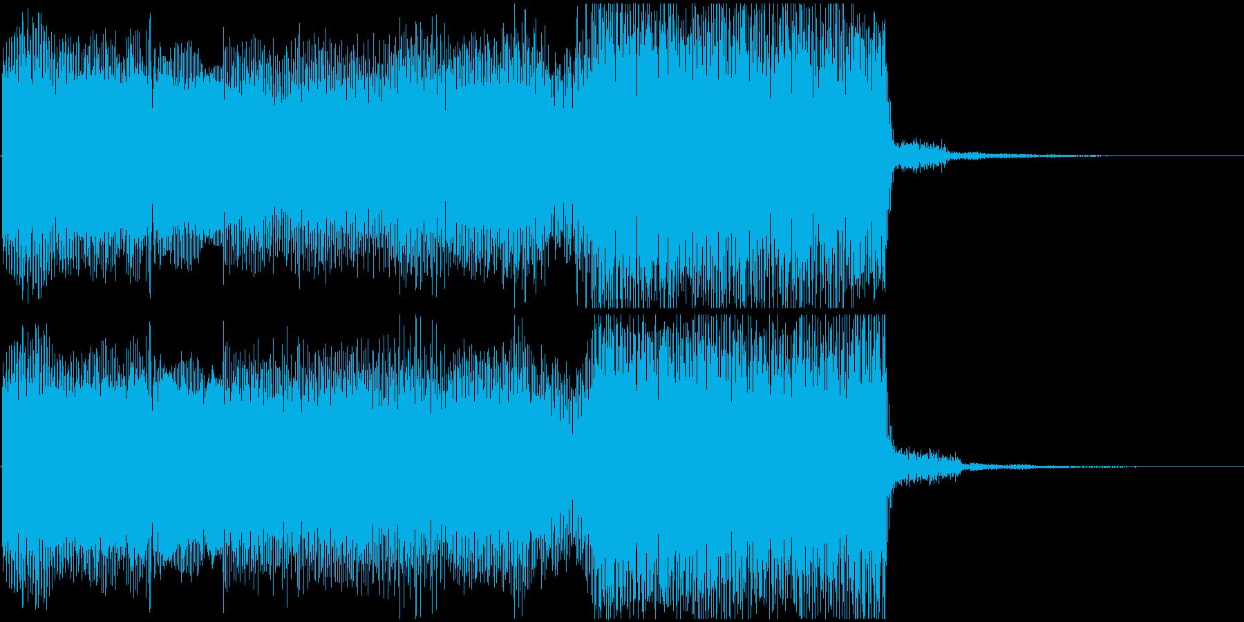 ゲームオーバーの怪しいシンセジングルの再生済みの波形