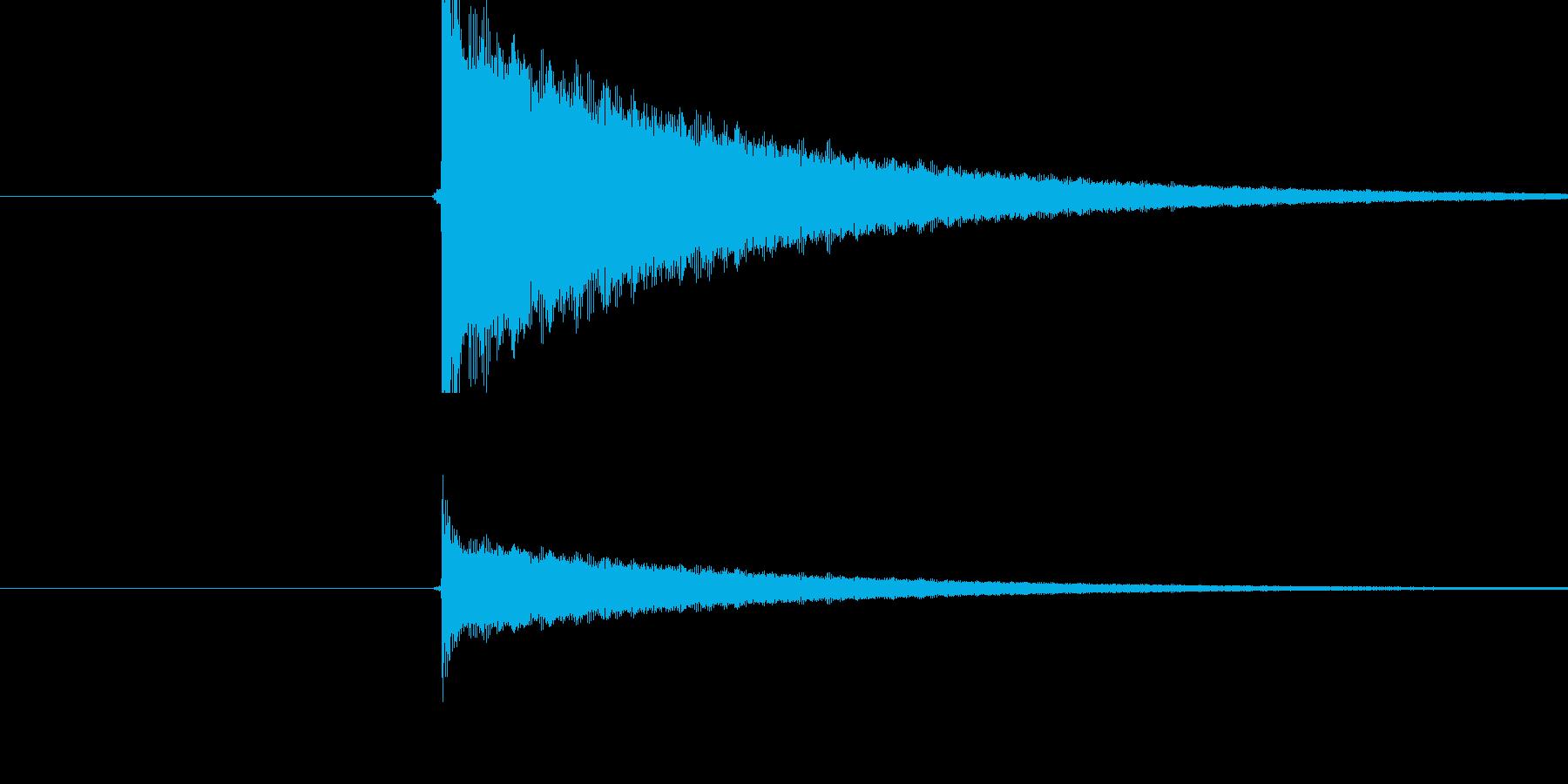 チーン(トライアングルの音)の再生済みの波形