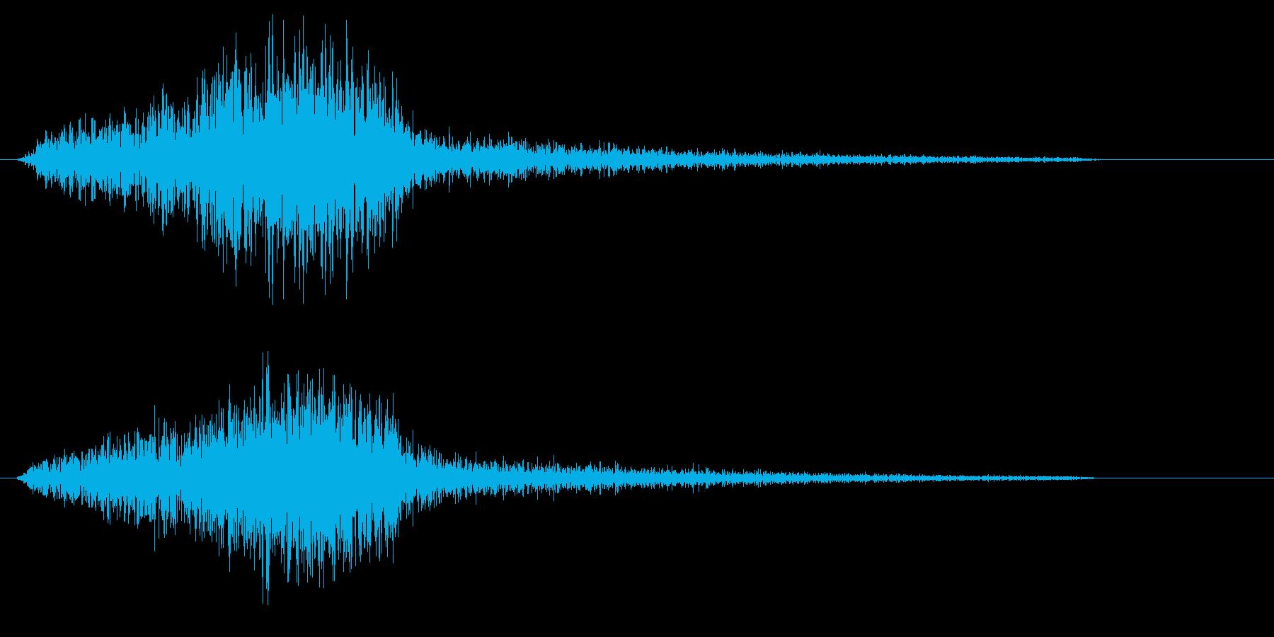 シューッというエアー音の再生済みの波形