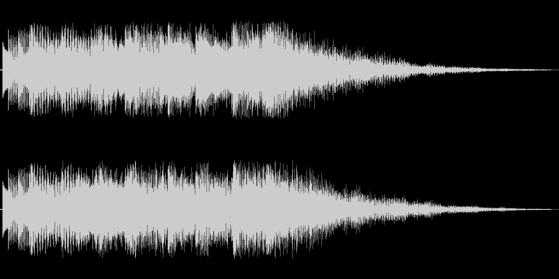 3秒ほどのジングル(ベル系)の未再生の波形