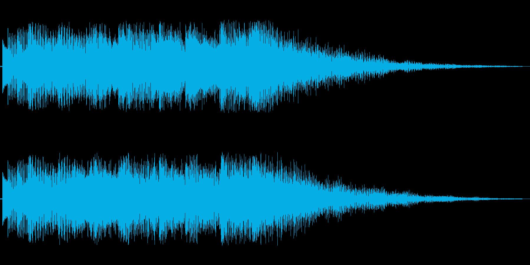 3秒ほどのジングル(ベル系)の再生済みの波形