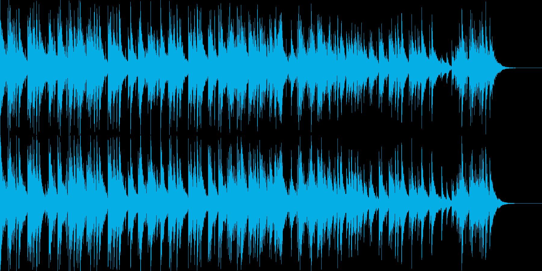 和風 琴とピアノのフュージョン 爽やかの再生済みの波形