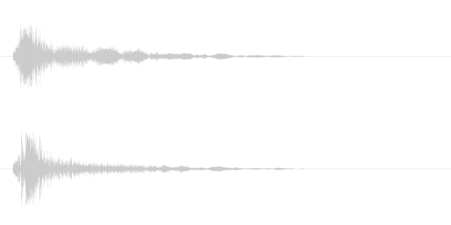 チャッ(着火音のような低音)の未再生の波形