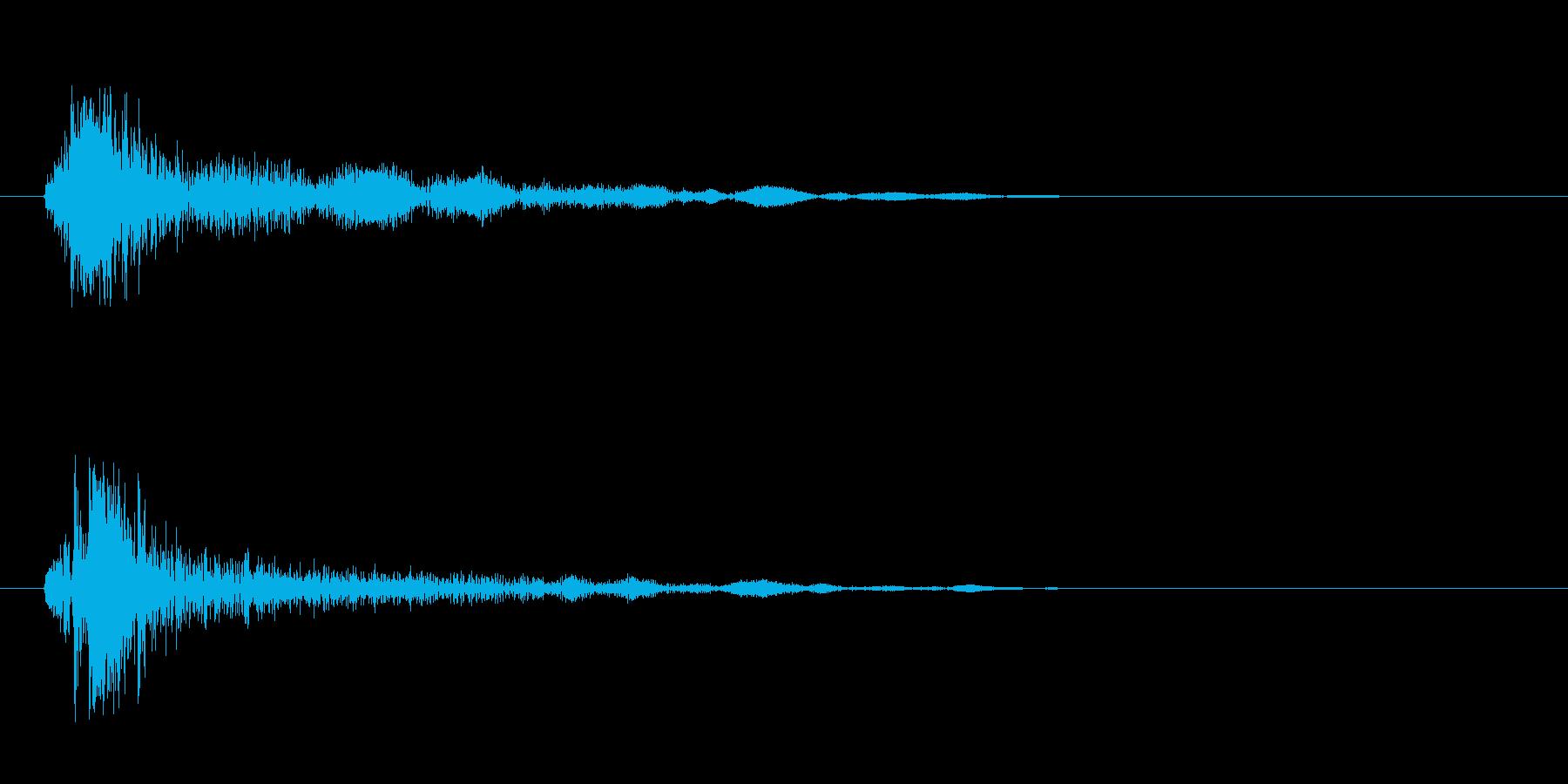 チャッ(着火音のような低音)の再生済みの波形