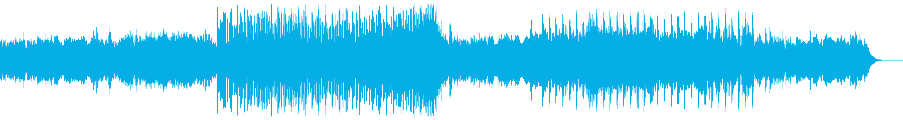 残響感のあるシンセベースとギターフレーズの再生済みの波形