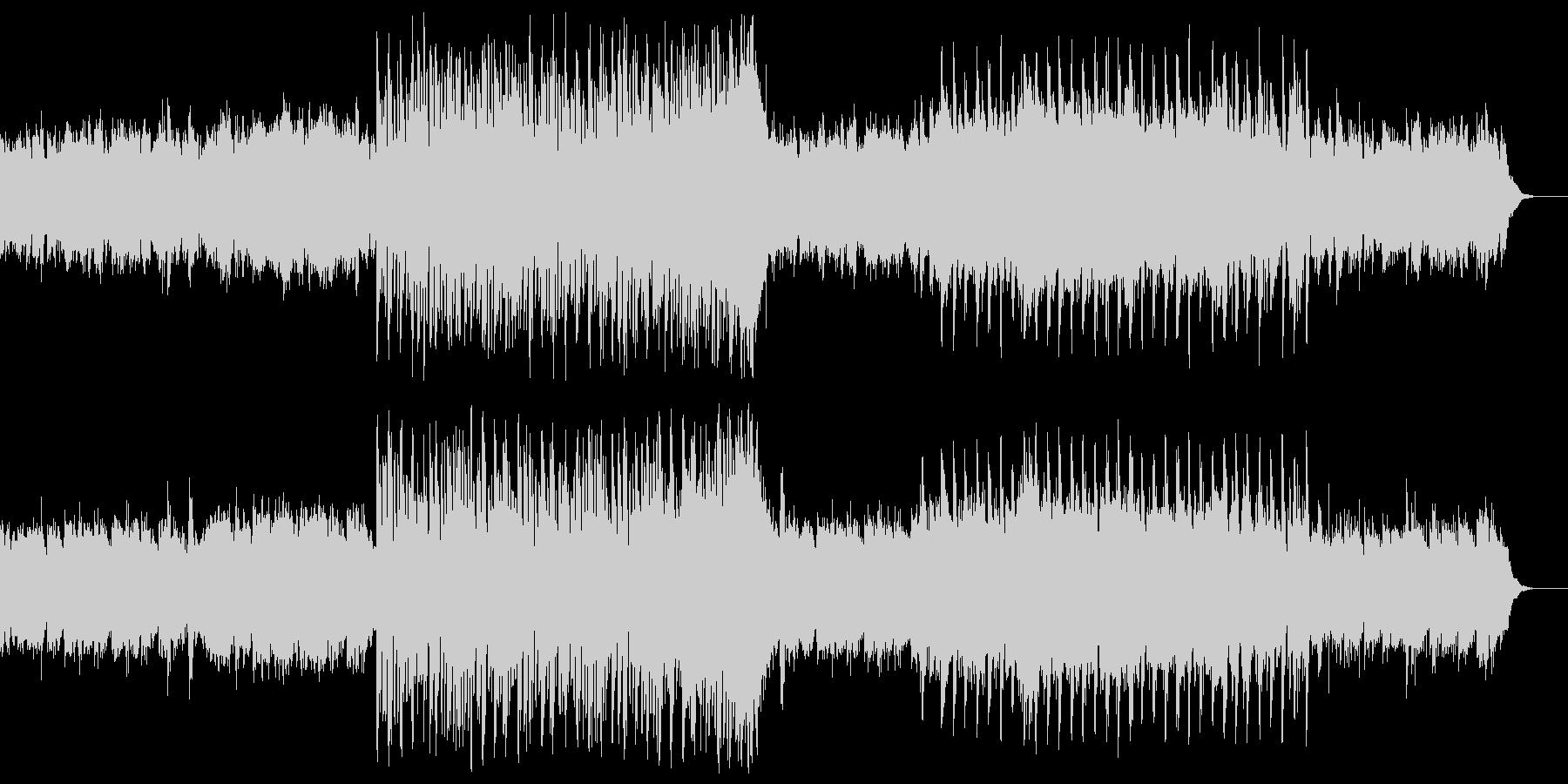 残響感のあるシンセベースとギターフレーズの未再生の波形