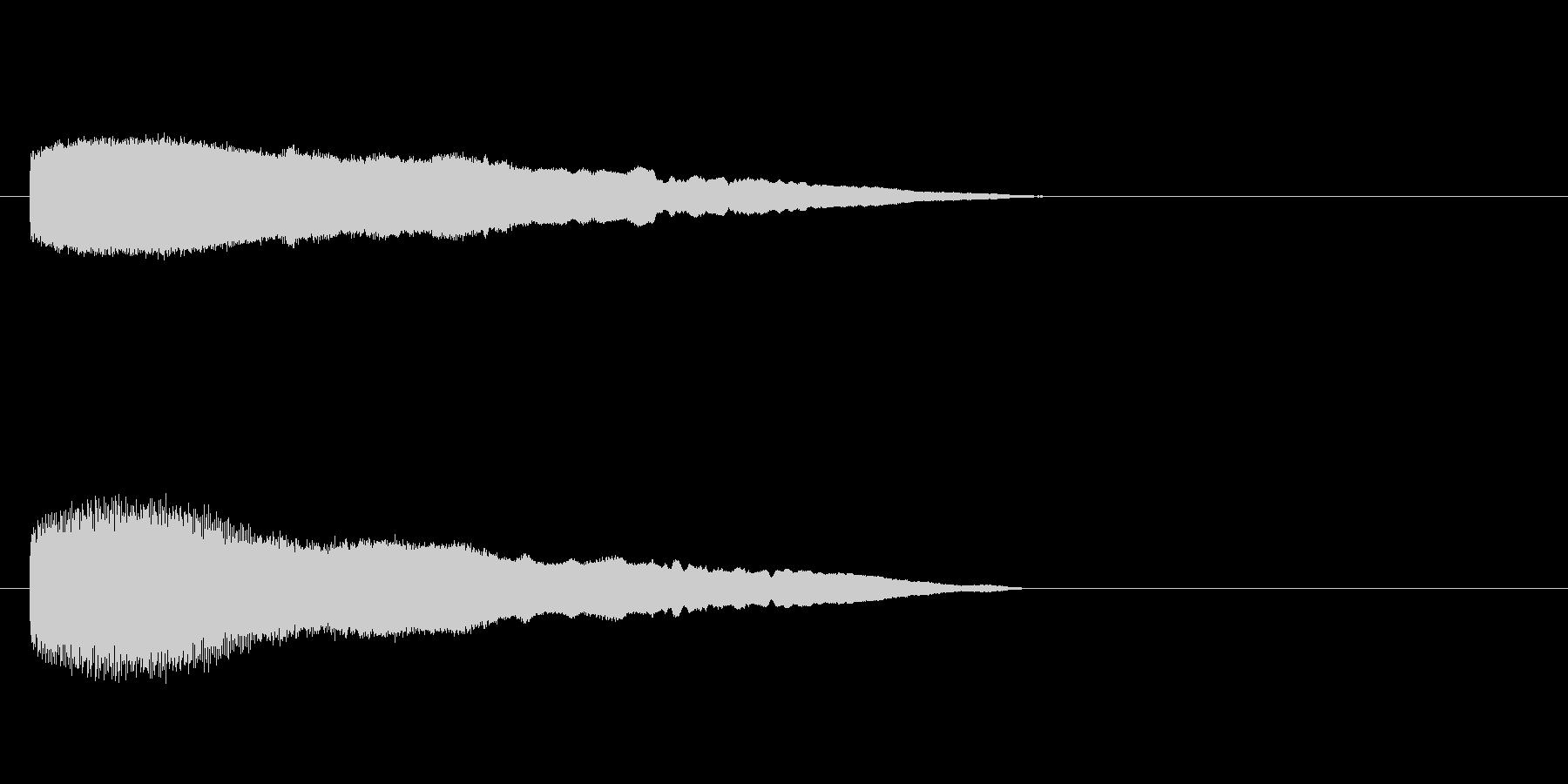 「ブーッ!」ふざけた鳥の鳴き声の擬音の未再生の波形
