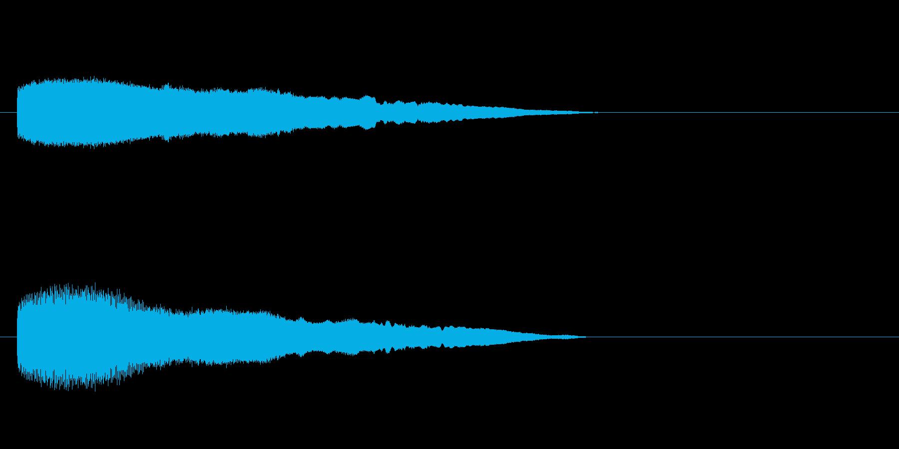 「ブーッ!」ふざけた鳥の鳴き声の擬音の再生済みの波形