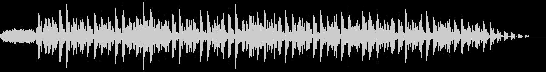 リズミカルなギターサウンドの未再生の波形