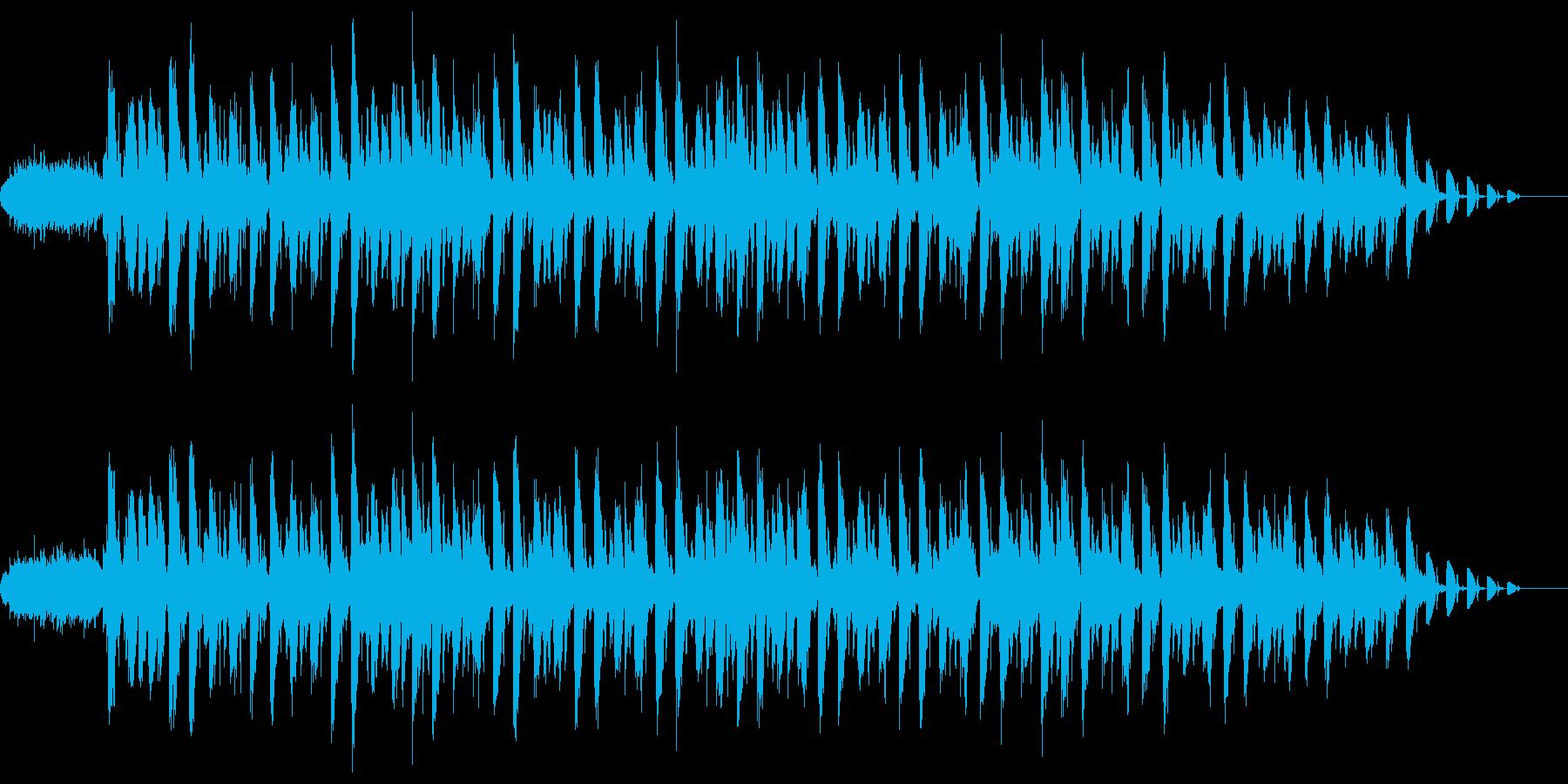 リズミカルなギターサウンドの再生済みの波形