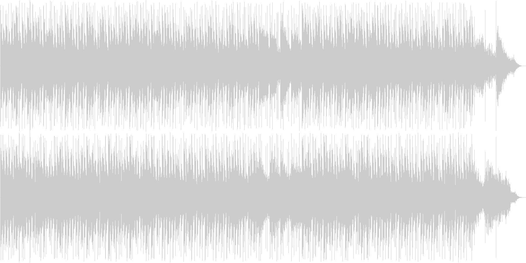 癒し系シンセ・ピアノなどのサウンドの未再生の波形