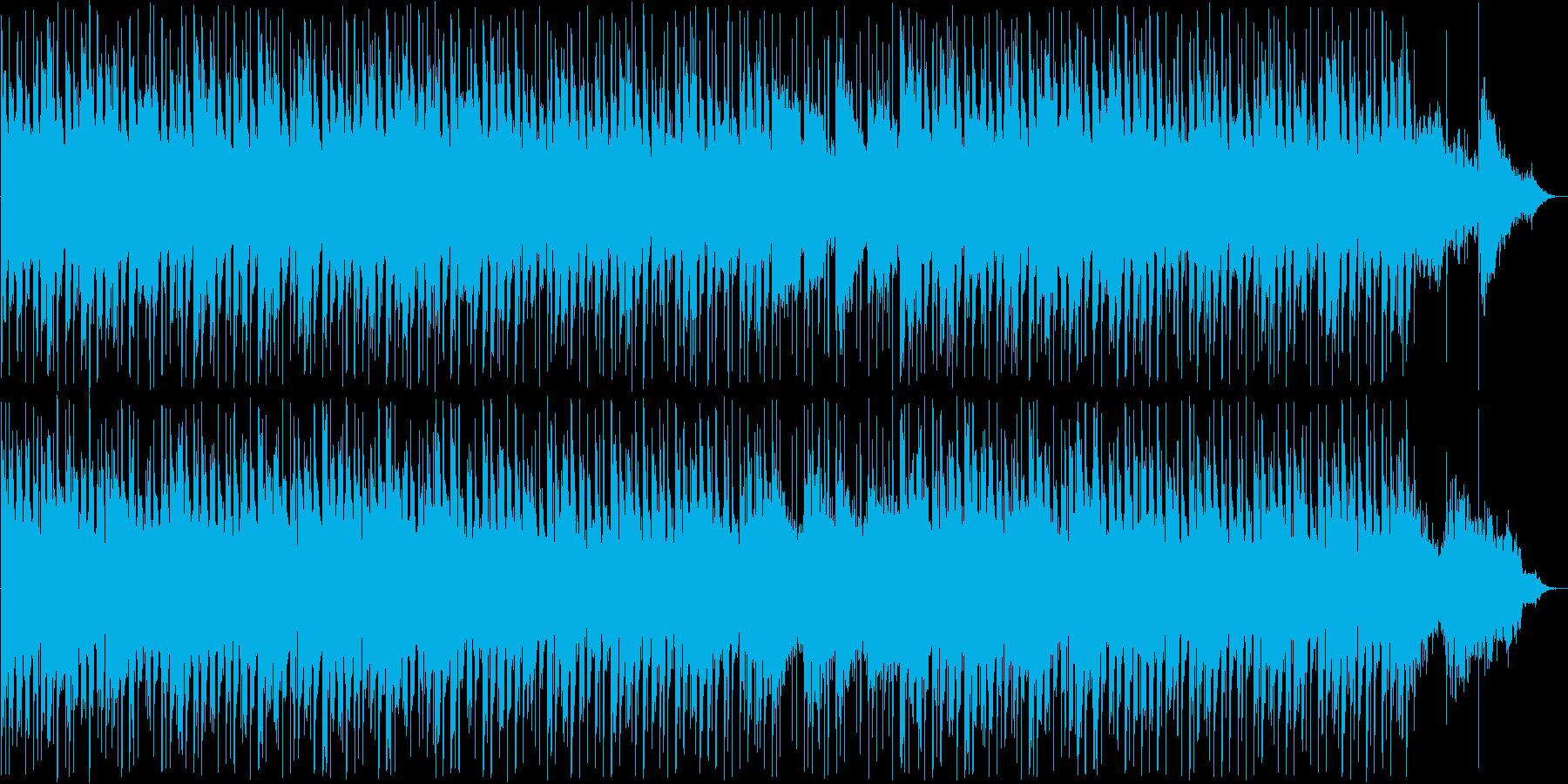 癒し系シンセ・ピアノなどのサウンドの再生済みの波形