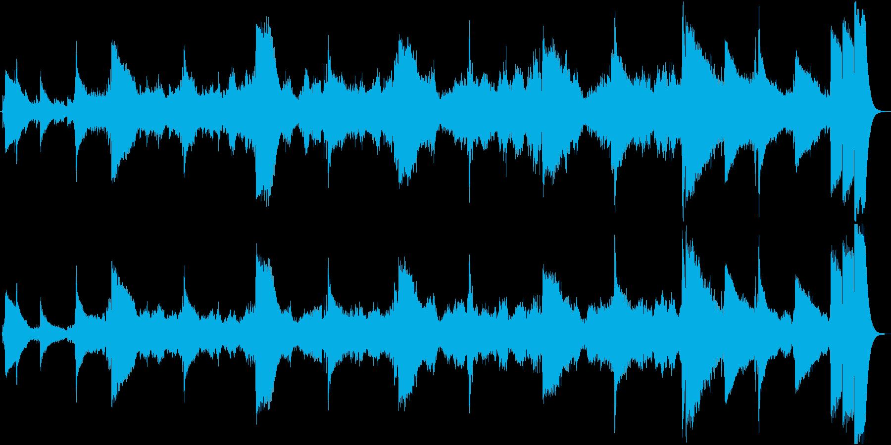 エンディング向けオーケストラ楽曲の再生済みの波形