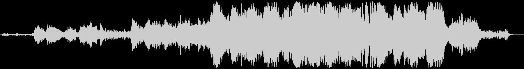 緊迫感のあるフルオーケストラBGMの未再生の波形