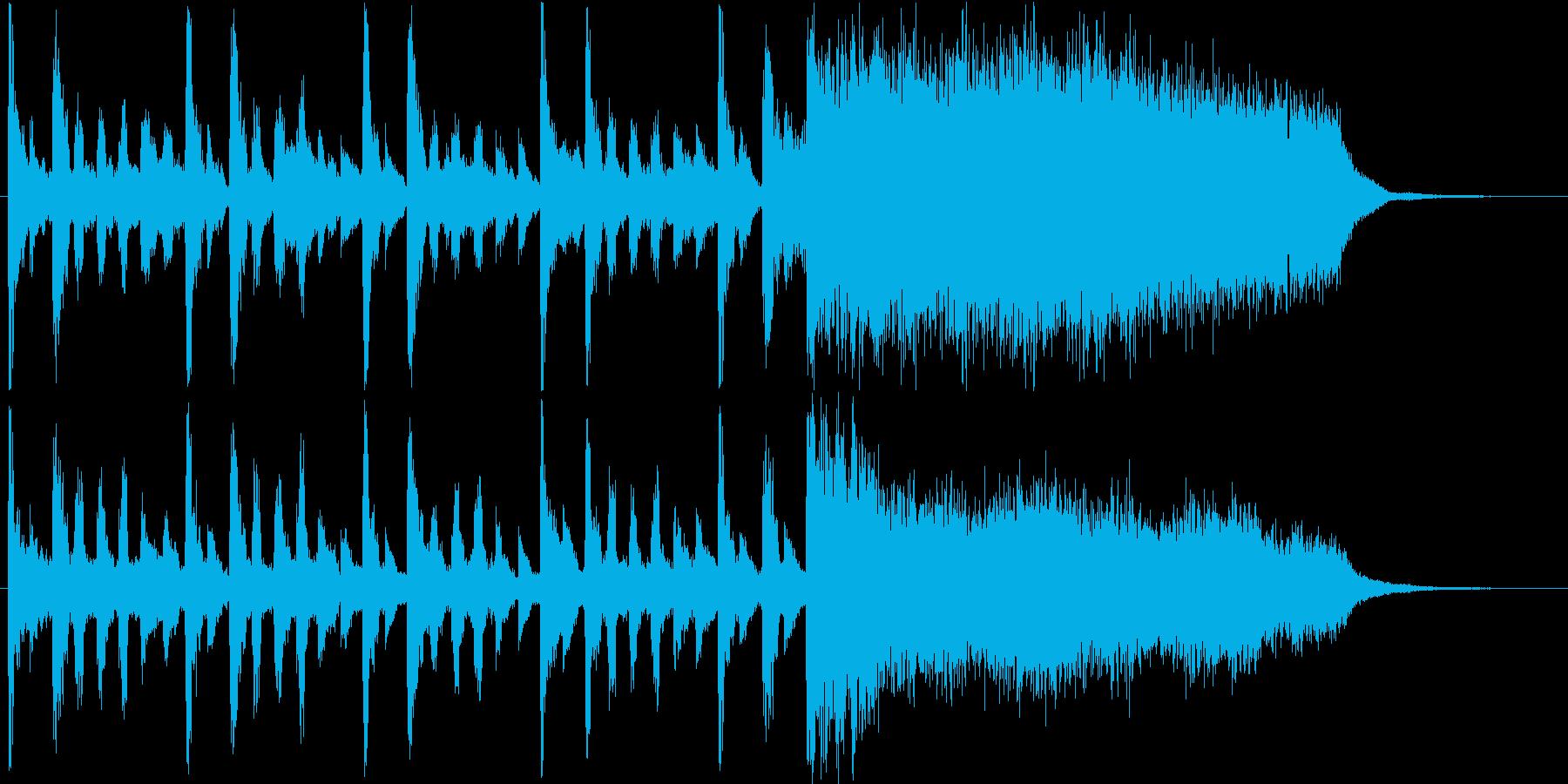 怪しい雰囲気のショートソングの再生済みの波形