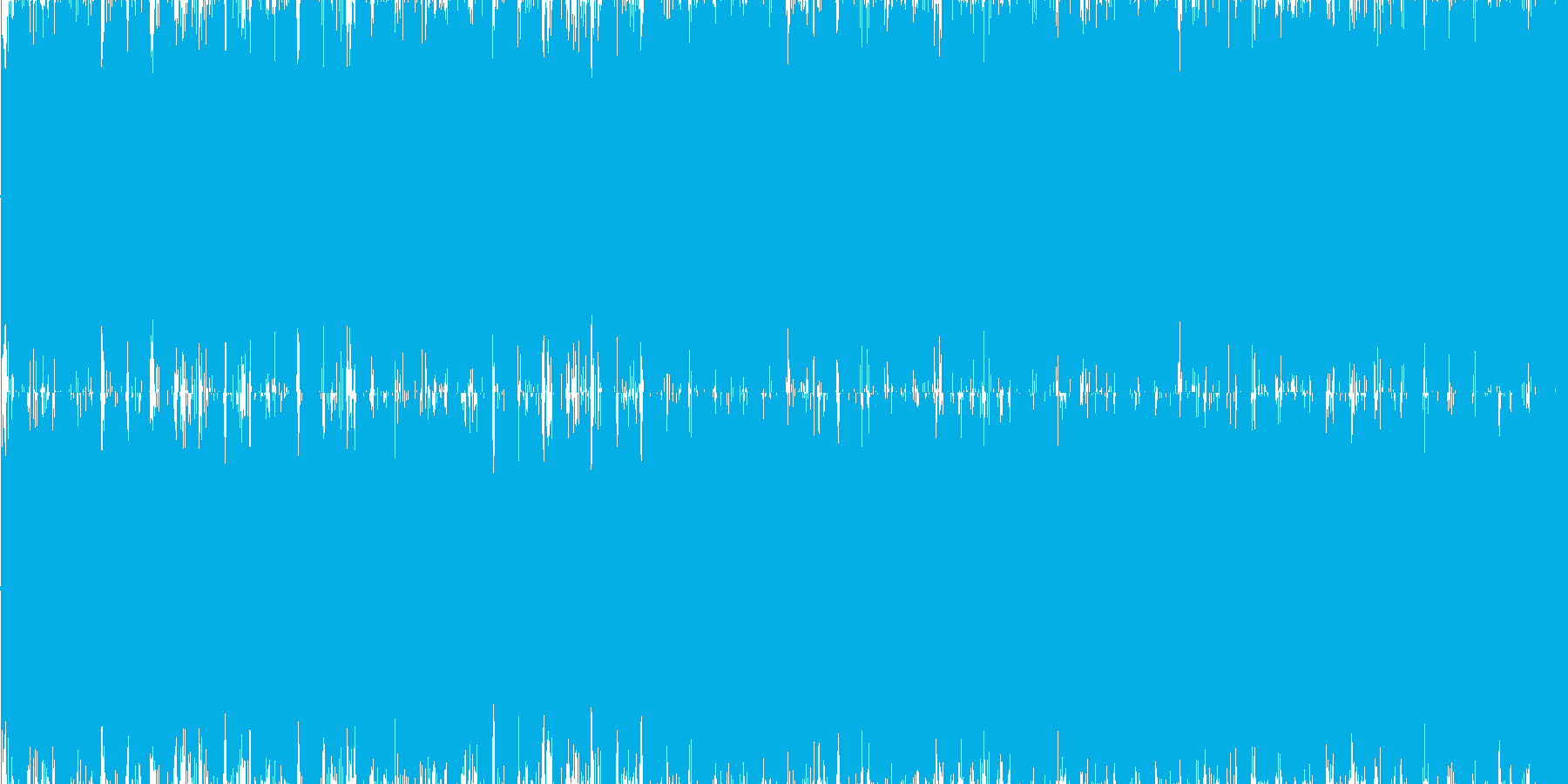 不気味なテクノサウンドの再生済みの波形