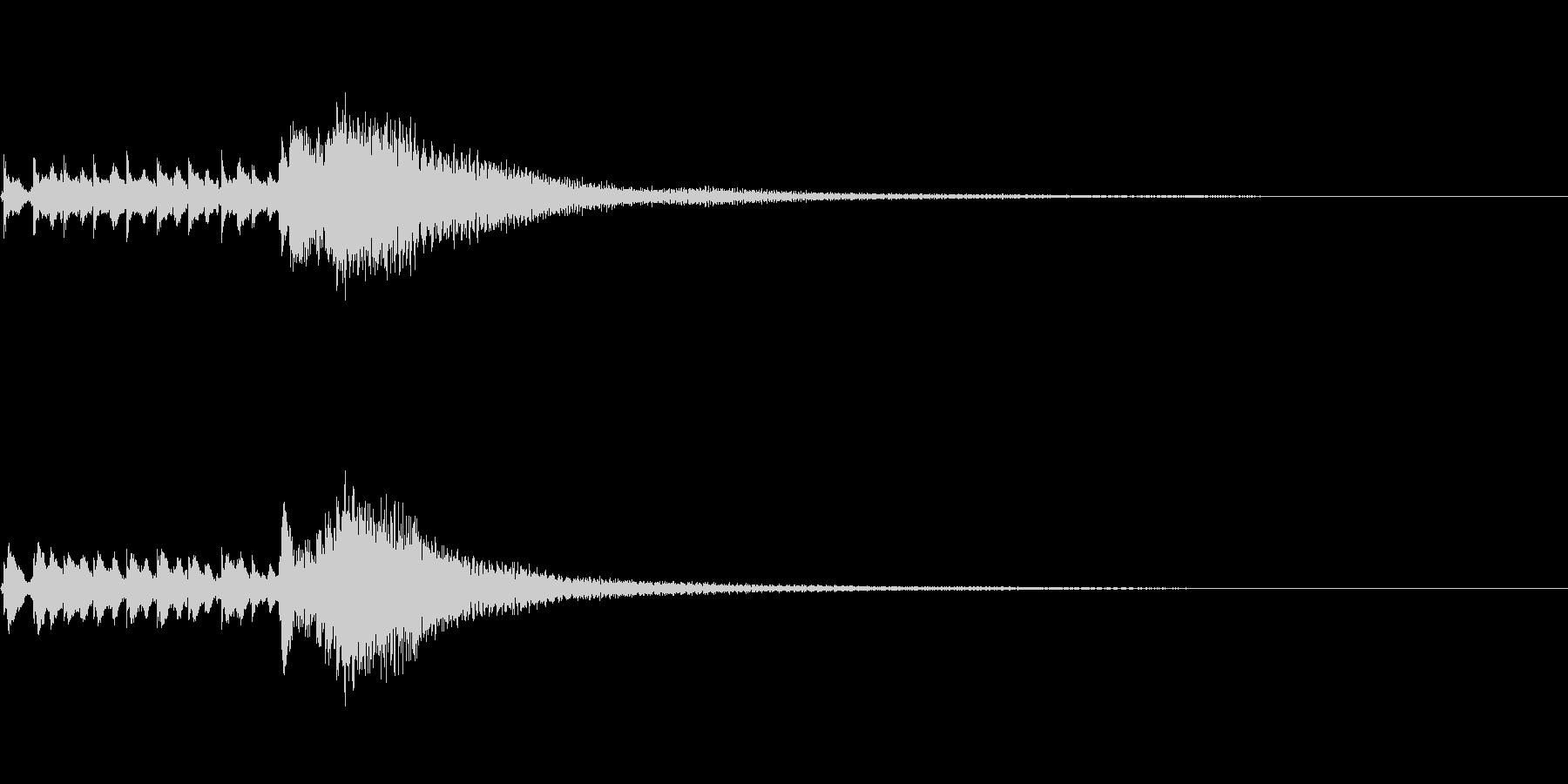琴、平調子、トレモロ下降スケールジングルの未再生の波形