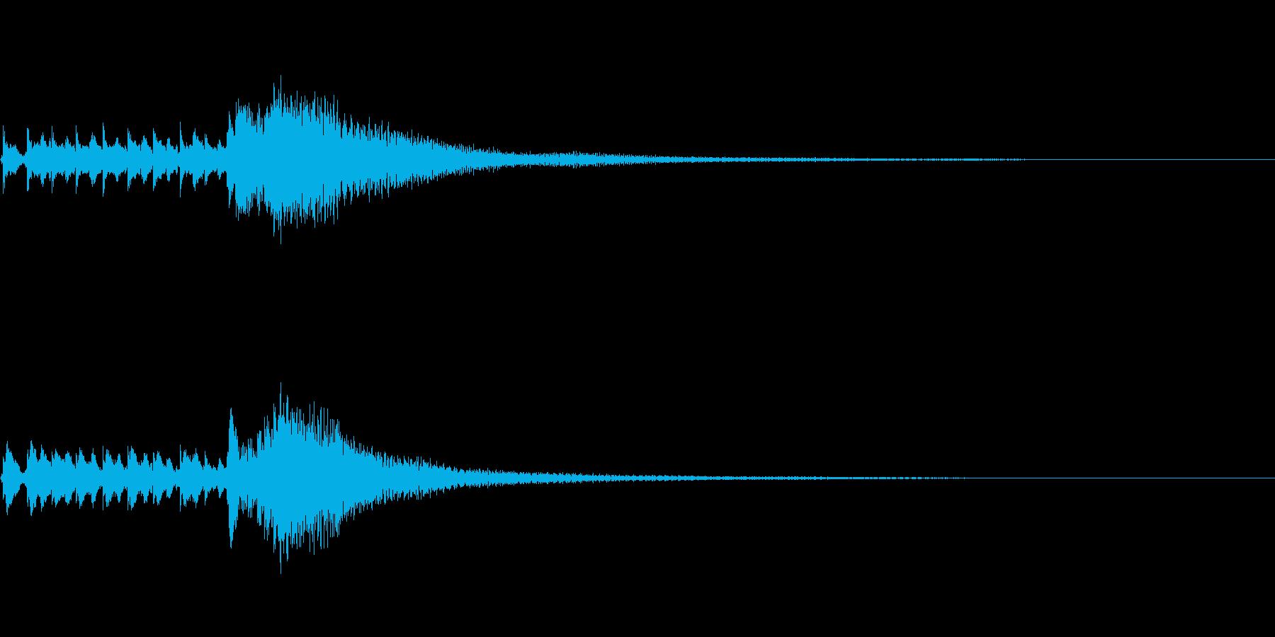 琴、平調子、トレモロ下降スケールジングルの再生済みの波形