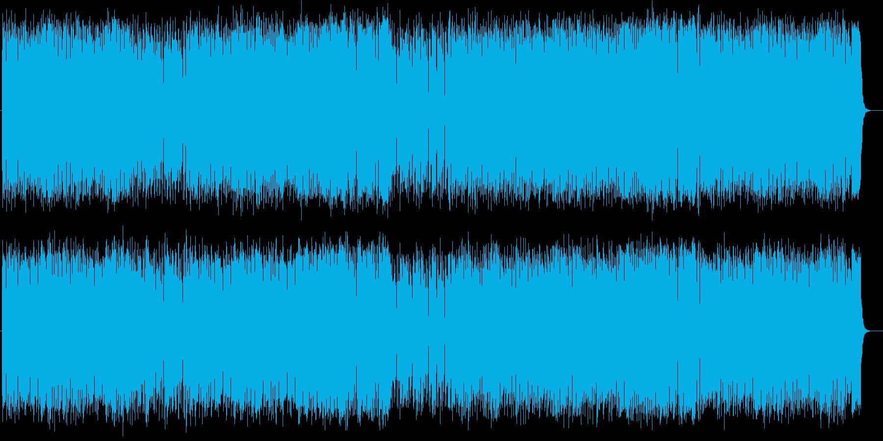 爽やかで楽しげなシンセサイザーサウンドの再生済みの波形