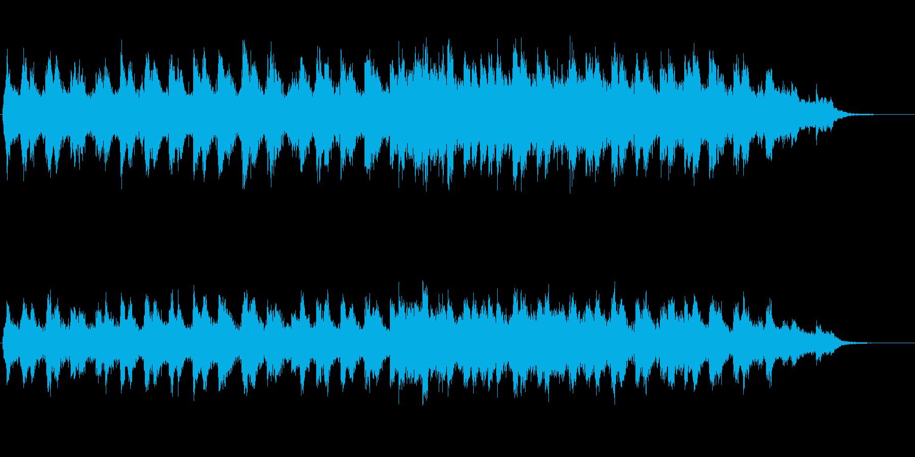 ほのぼのした雰囲気のジングル2の再生済みの波形