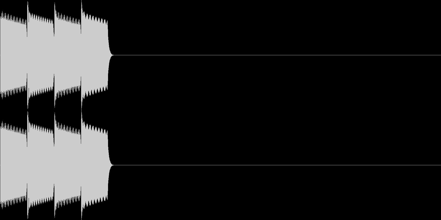 決定音(ピコピコ、ピロリロ)の未再生の波形