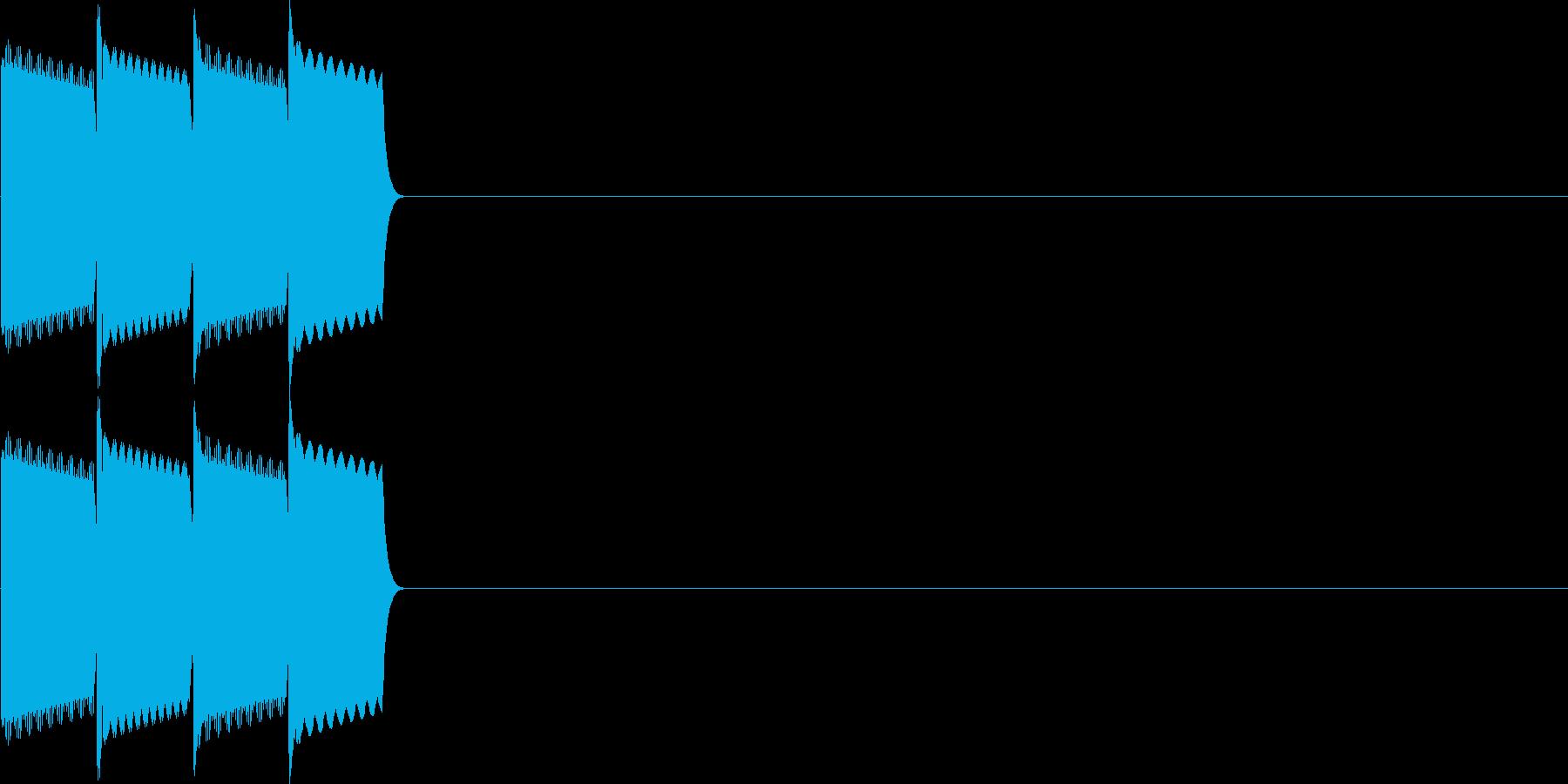決定音(ピコピコ、ピロリロ)の再生済みの波形
