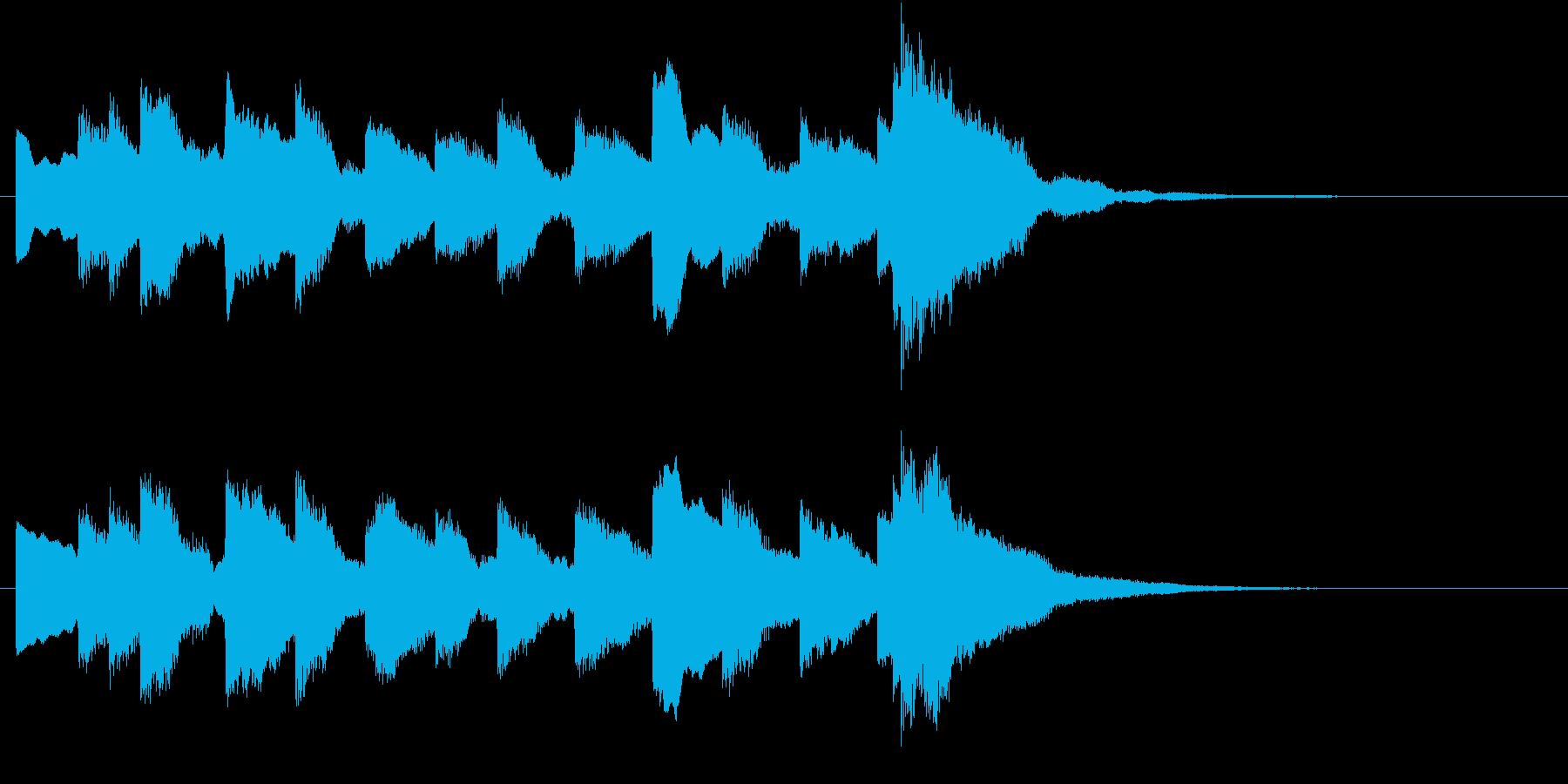 電車の発車・到着ジングル-05(5秒)の再生済みの波形