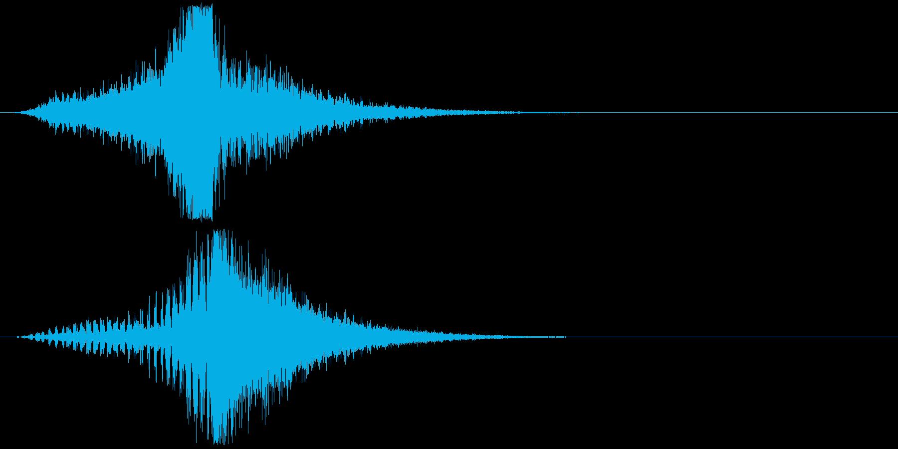 宇宙船・飛翔体#3通過 左〜右の再生済みの波形