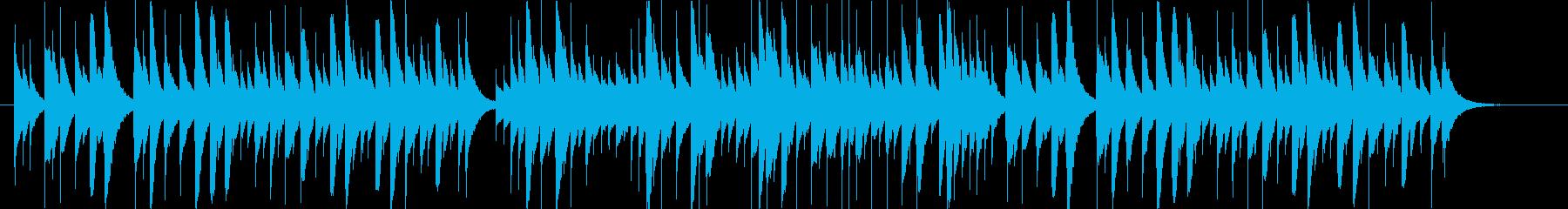 夜空をイメージしたオルゴールの曲の再生済みの波形