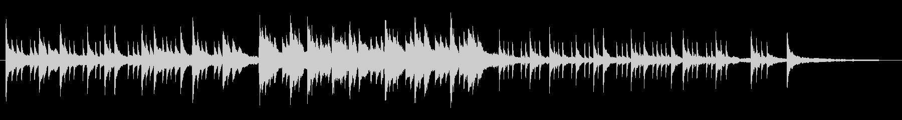 ピアノによるグレゴリオ聖歌の未再生の波形