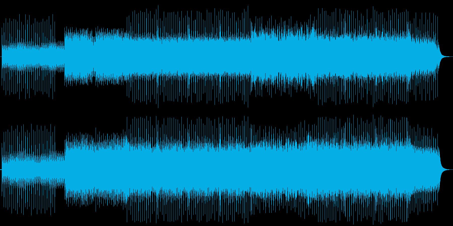 爽やかで高揚感のある雰囲気の曲の再生済みの波形