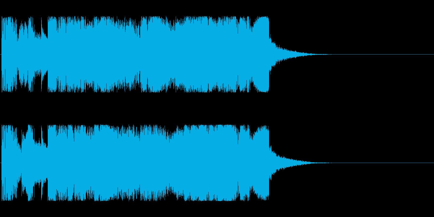 賑やかパワフル系サウンドロゴの再生済みの波形