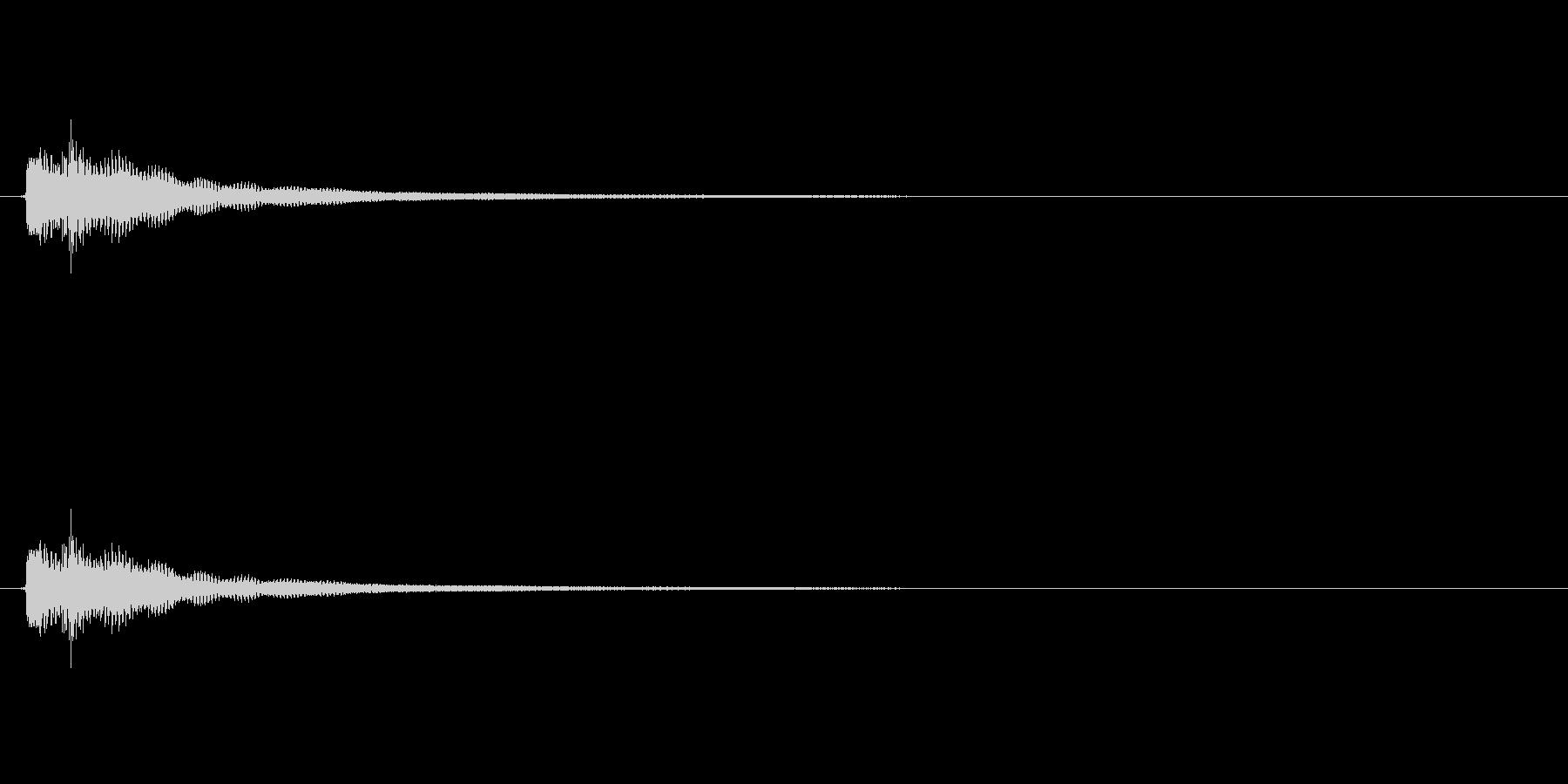 【生音】チャララーン/エレアコのしぶい音の未再生の波形