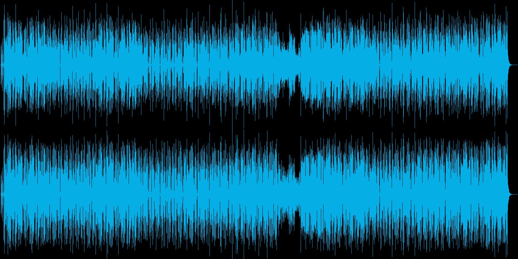 ちょっぴりおとぼけ系のコミカル曲の再生済みの波形