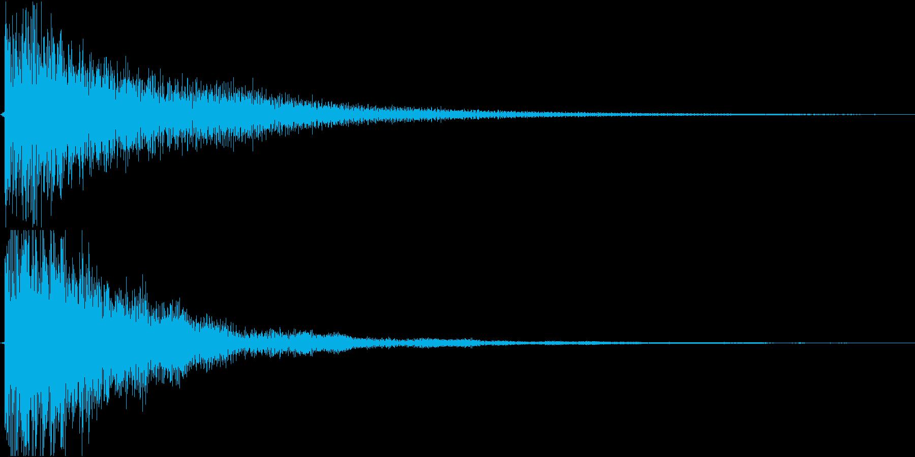 不気味な鐘の音の再生済みの波形