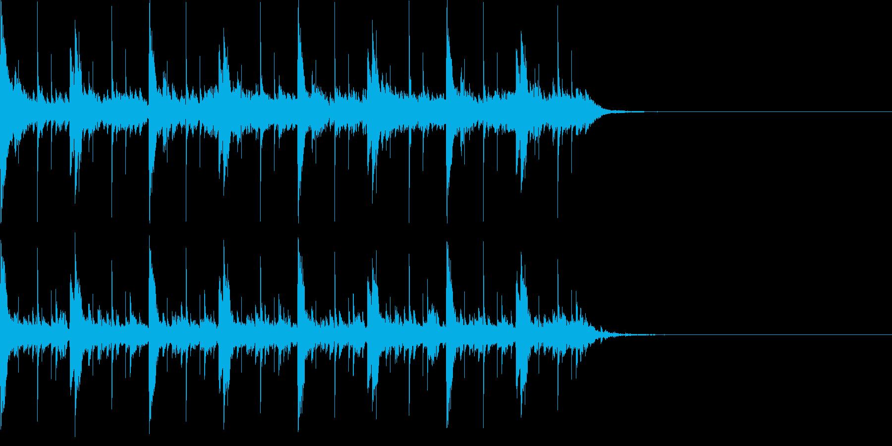 謎解きのシーンで流れるBGMの再生済みの波形