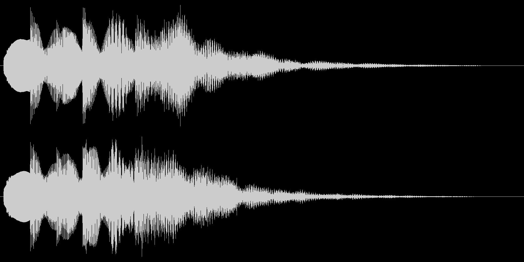 綺麗な音 透明感のあるサウンドロゴの未再生の波形