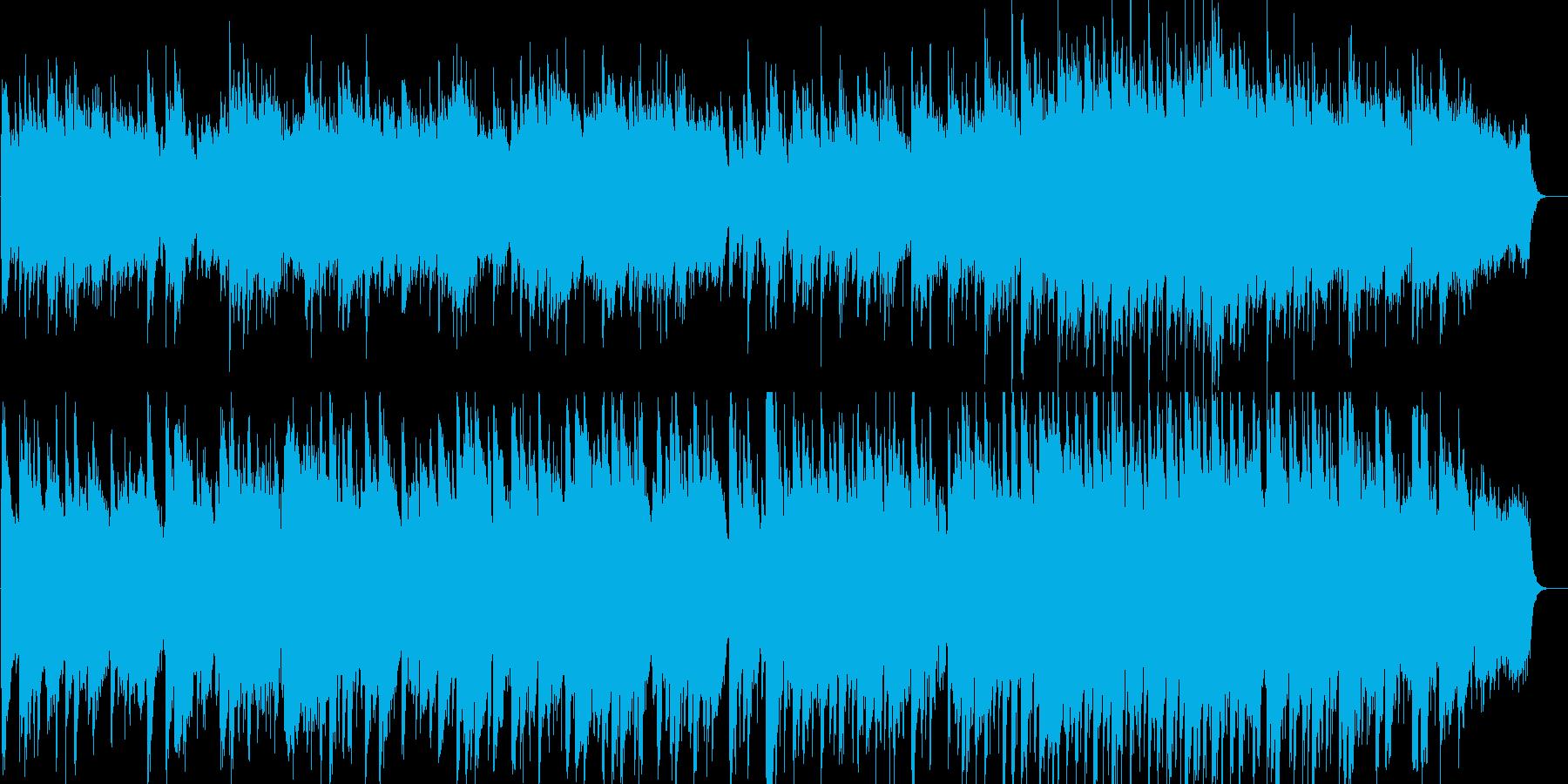 華やかで明るい感動的なバラードの再生済みの波形