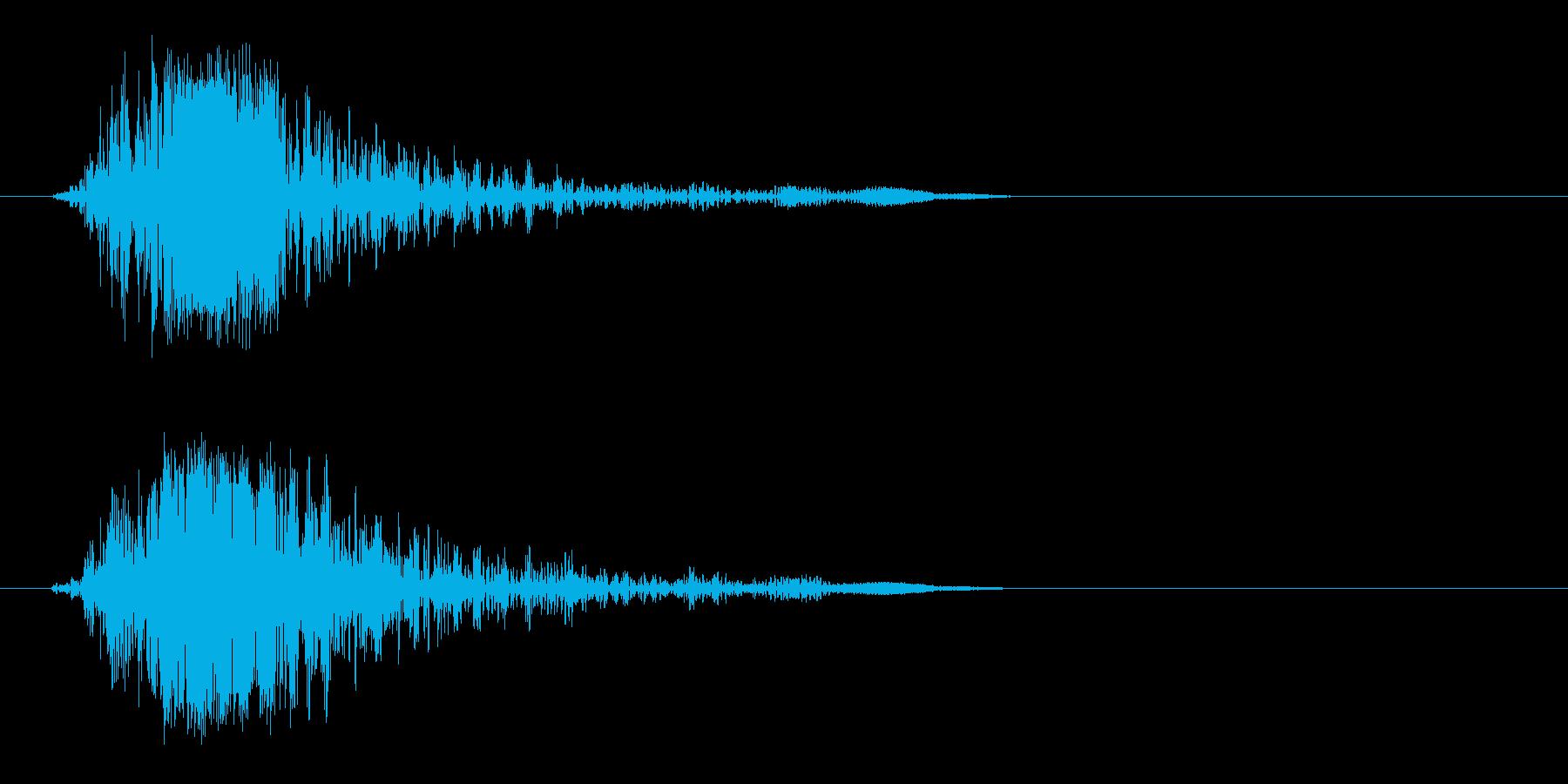 カッ(POPでアメリカンな音)の再生済みの波形