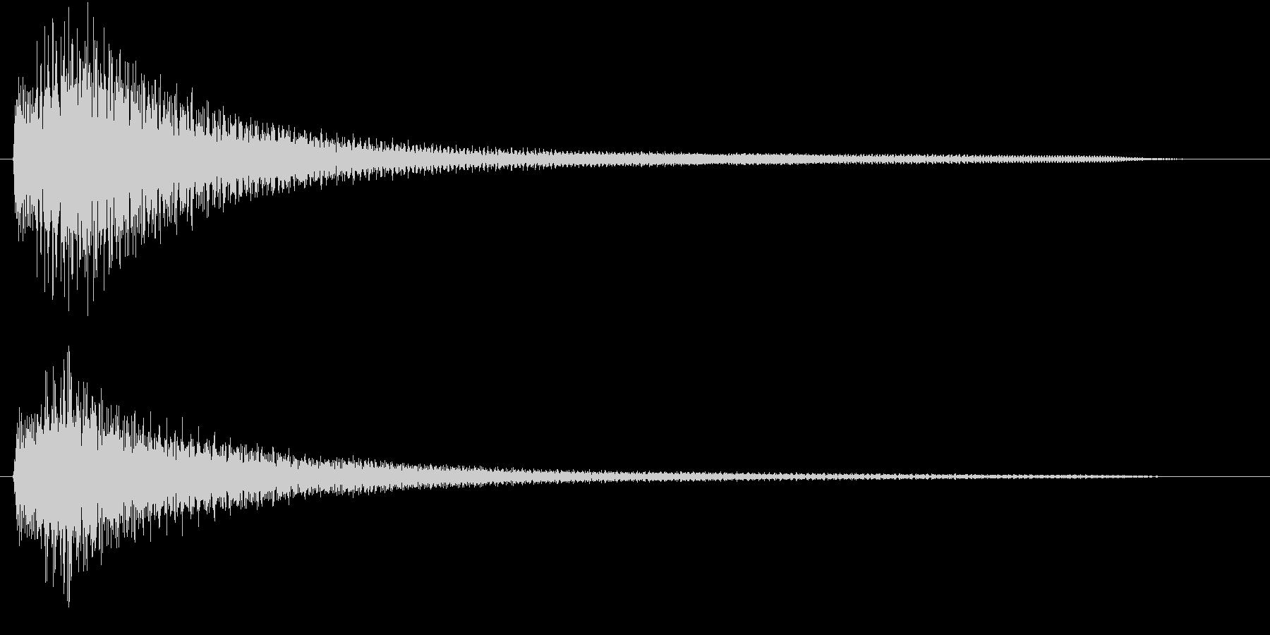 ピアノによる分散音の未再生の波形
